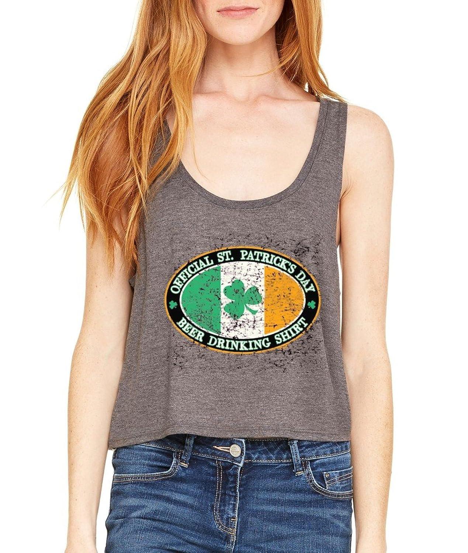 Irish Drinking Team Boxy Tank Top St. Patricks Day Flowy Shirt Large/XL Dark Heather i2