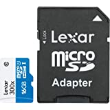Lexar High Performance MicroSD 16GB 300X High Speed Class 10 Memory Card with adapter