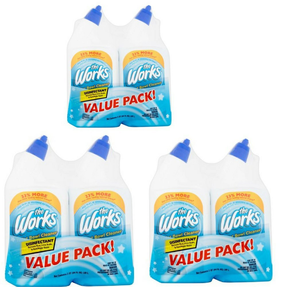 The Works Disinfectant Toilet Bowl Cleaner Value Pack 64 fl oz, Pack of 2 03302WK