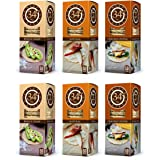 34 Degrees Cracker Variety Pack - 6 Assorted 4.5 Ounce Boxes - Whole Grain, Natural & Cracked Pepper