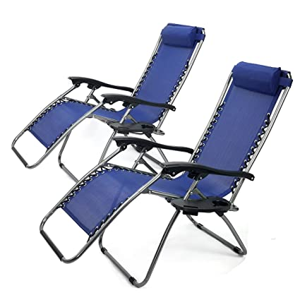 Merveilleux XtremepowerUS Zero Gravity Adjustable Reclining Chair Pool Patio Outdoor  Lounge Chairs W/ Cup Holder