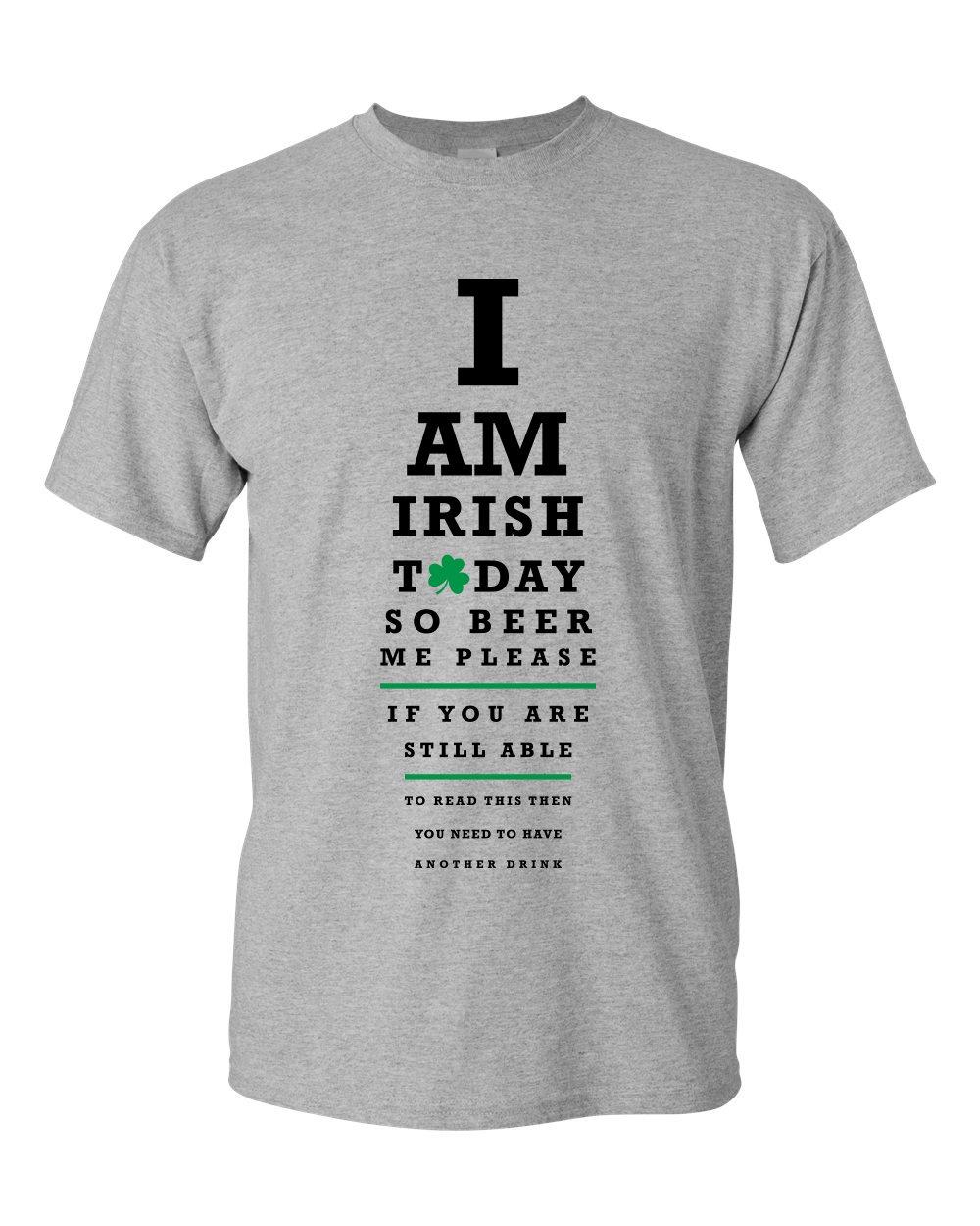 Createmytee Irish Eye Test Irish Pride St Patricks Day Funny Drinking Short Sleeve T Shirt