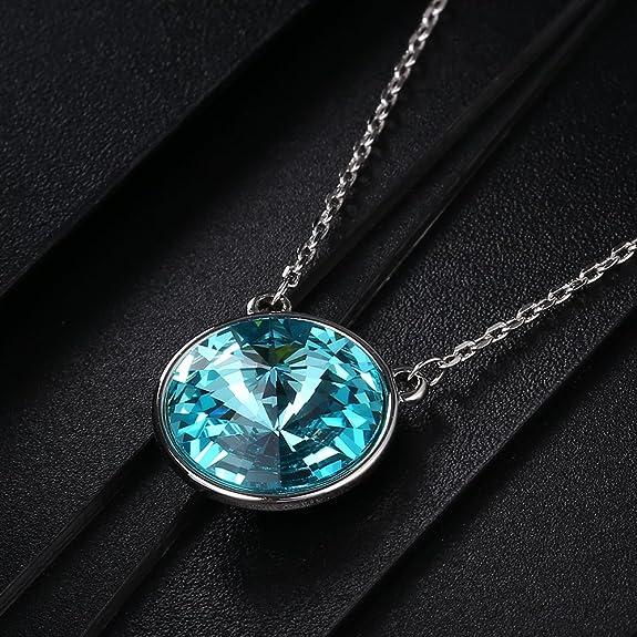 Chic /& Moderno Cromo y Cadena de Cristal Claro Doble Círculo Colgante Collar Zx243