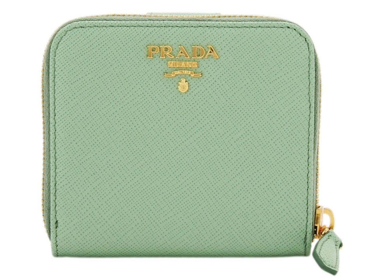 (プラダ) PRADA 財布 二つ折り ラウンドファスナー レザー 1ML522 [並行輸入品] B074V5BHQM ACQUAMARINA ACQUAMARINA