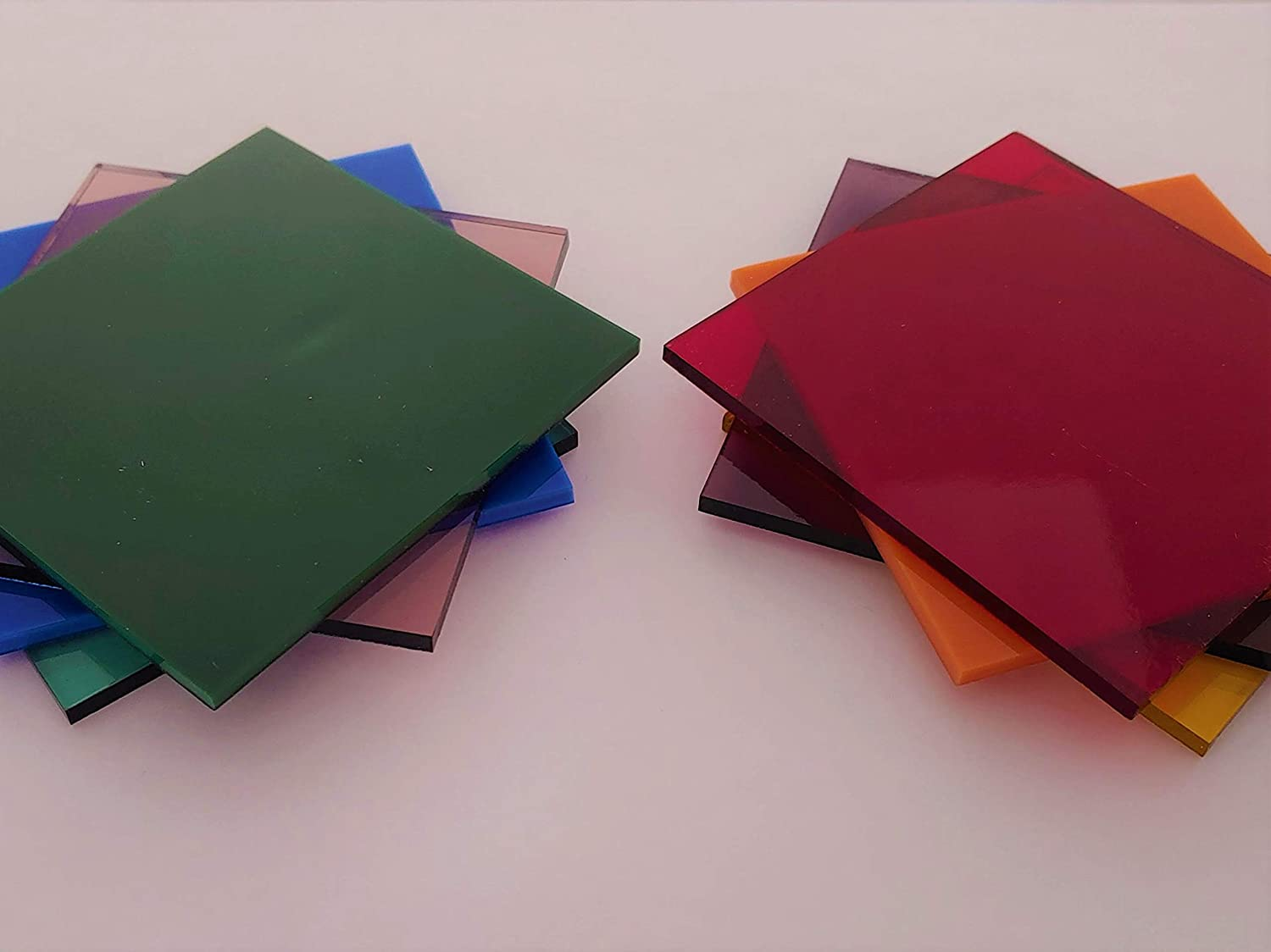 96 COE 3x3 Fusible Mini Variety Stained Glass Pack By Stallings Stained Glass