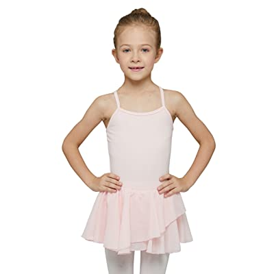 MdnMd Girls' Skirted Camisole Leotard