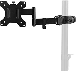 VIVO Steel Universal Full Motion Pole Mount Monitor Arm with Removable 75mm and 100mm VESA Plate, Fits 17 to 32 inch Screens (MOUNT-POLE01A)