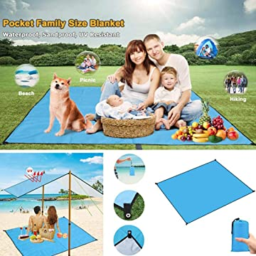 Miuniu Waterproof Picnic Beach Camping Mat Outdoor Oxford Cloth Tent Floor Blanket Sleeping Pads