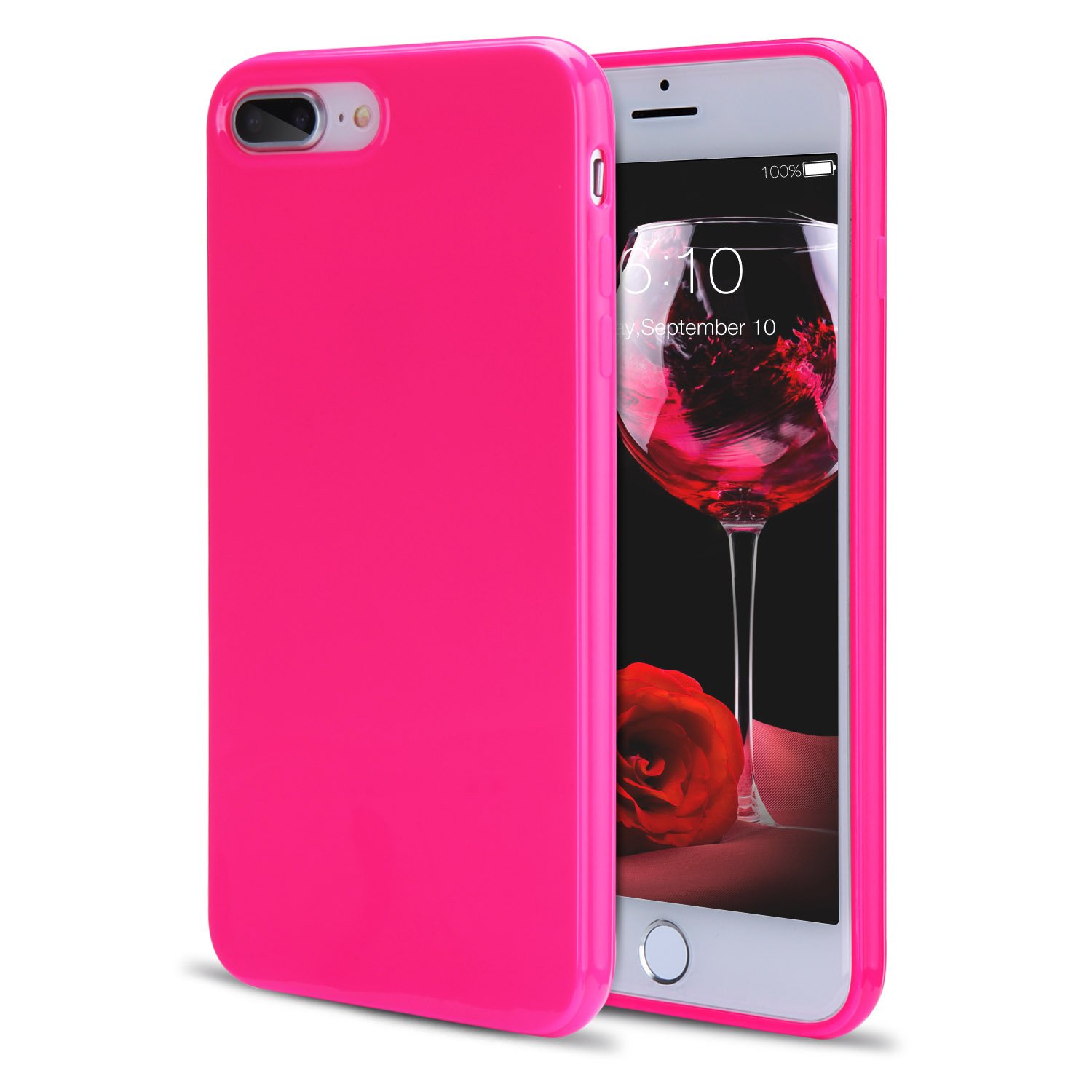 new style e6ae3 68c48 iPhone 8 Plus Case, iPhone 7 Plus Case for Girls, FGA Sugar Candy Cute  Shockproof Protective Slim-fit Solid Color Flexible Soft TPU Gel Case for  ...