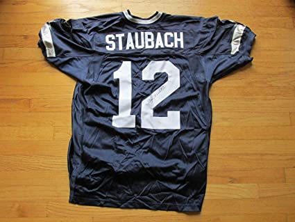 finest selection dd371 5f8fe Roger Staubach Autographed Signed Dallas Cowboys Jersey ...