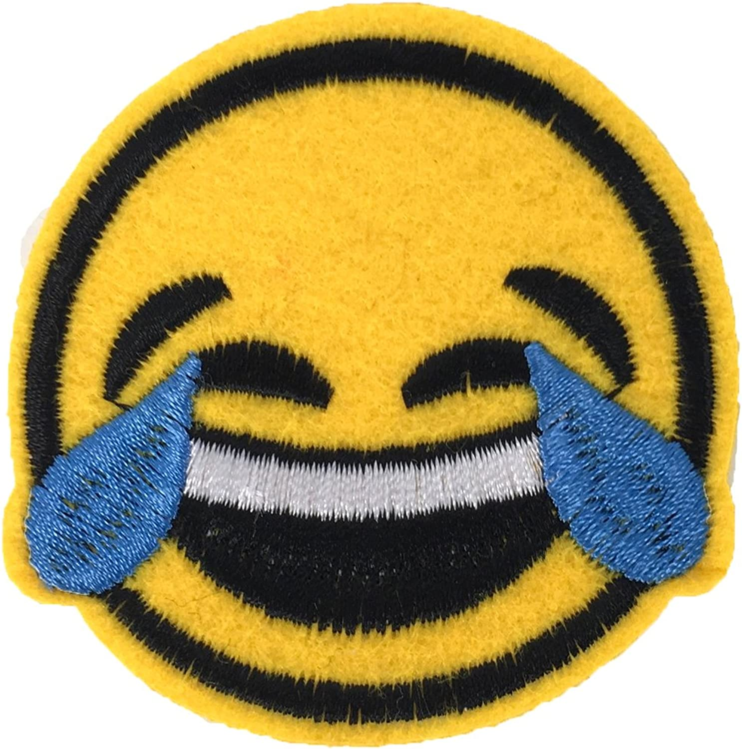 Yellow Fashion Culture LOL Emoji Embroidered Iron On Patch Applique