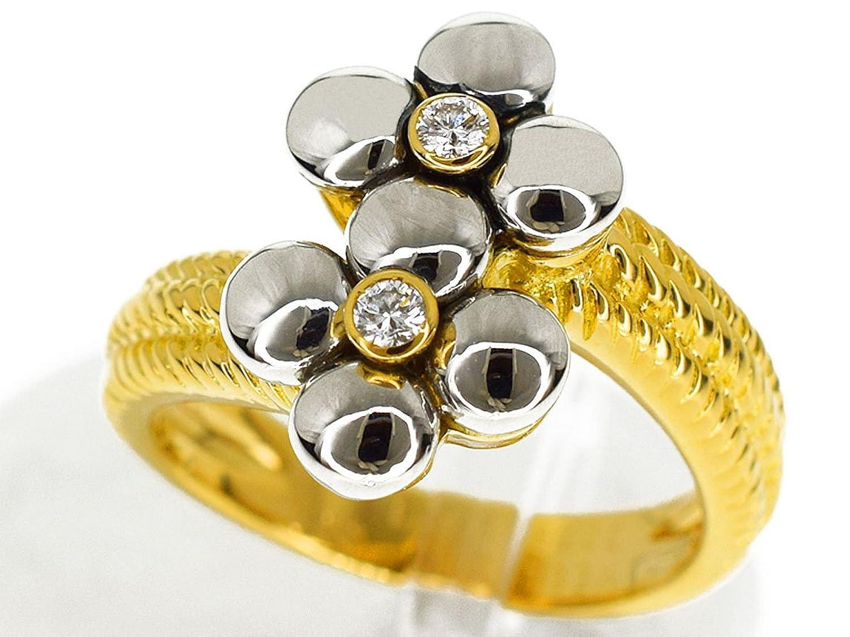 (メレリオ ディ メレー) Mellerio dits Meller ダイヤモンド(D0.07ct) フラワー リング 750 K18 YG WG イエローゴールド ホワイトゴールド 日本サイズ約12号 #52 PARIS 29771009 B077W8JPVT