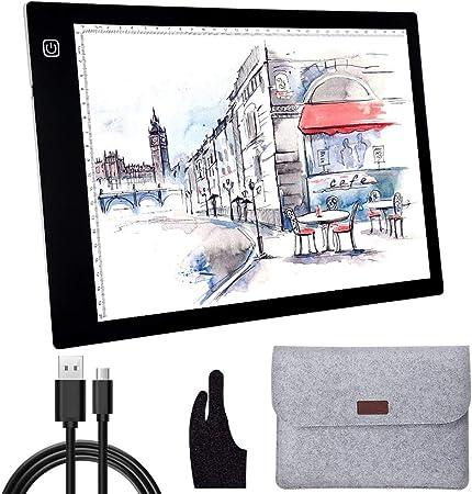 AGPtek LEGERE Tablette Lumineuse A4 avec Luminosité Réglable Précise LED Pad