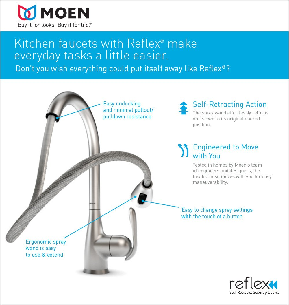 Moen Kitchen Faucet Pull Out Moen Brantford One Handle High Arc Pulldown Kitchen Faucet Chrome