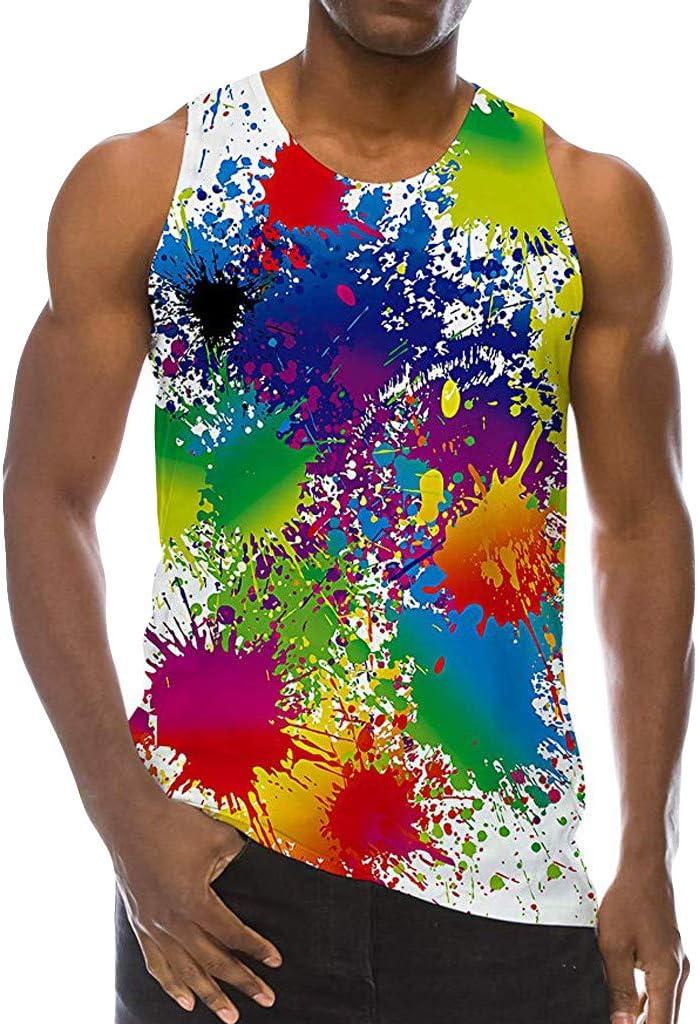 Doingshop - Camiseta sin Mangas para Hombre, diseño de arcoíris: Amazon.es: Deportes y aire libre