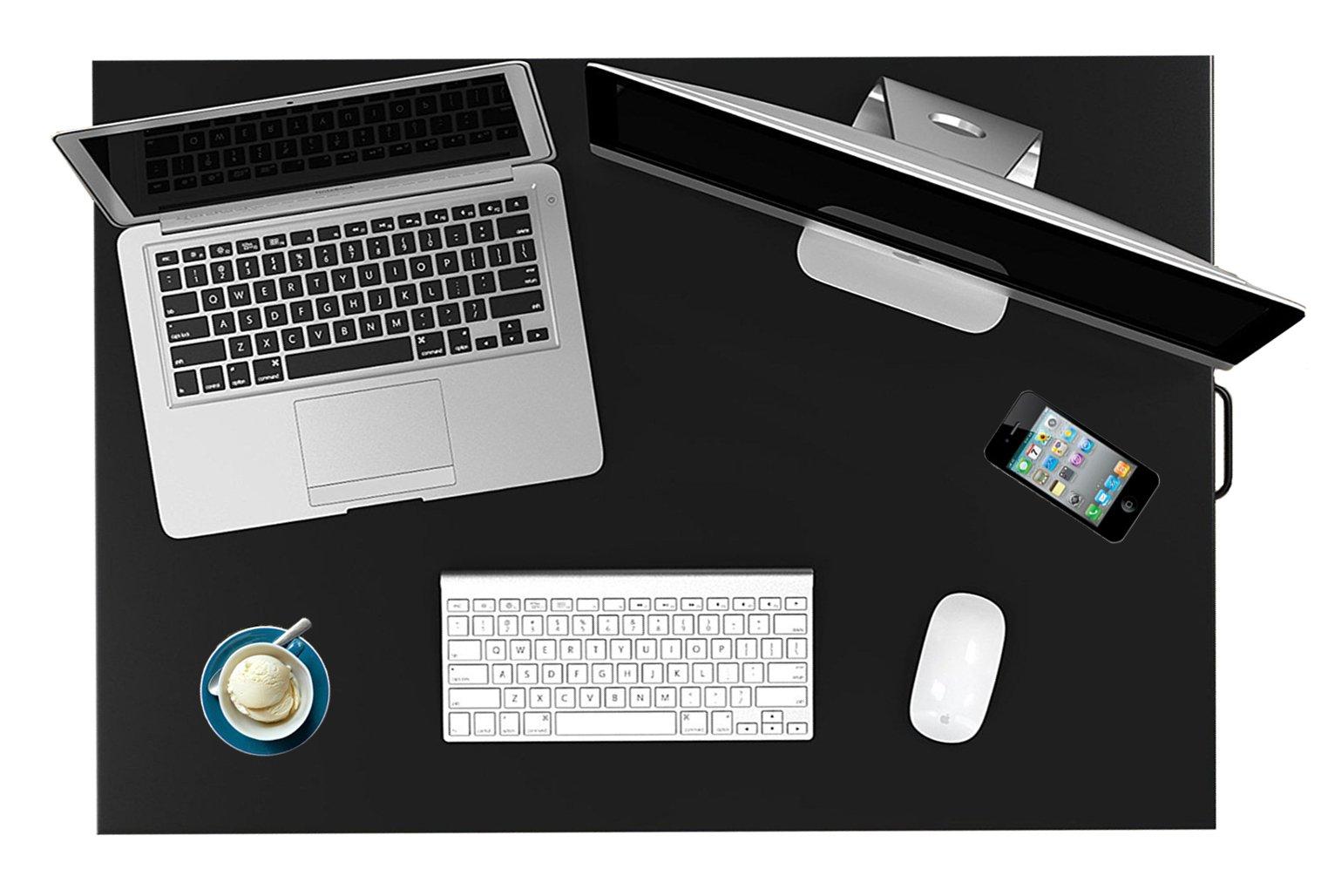 Standing Desk Stand Up Desks Height Adjustable Sit Stand Converter Laptop Stands Large Wide Rising Black Dual Monitor PC Desktop Computer Riser Table Workstation Foldable Extender Ergonomic 32 inch by Defy Desk (Image #4)