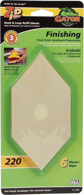 """Gator 7187 Zip Sanding Refill Sheet 3/"""" x 6/"""" x 3/"""" Assorted Grit"""