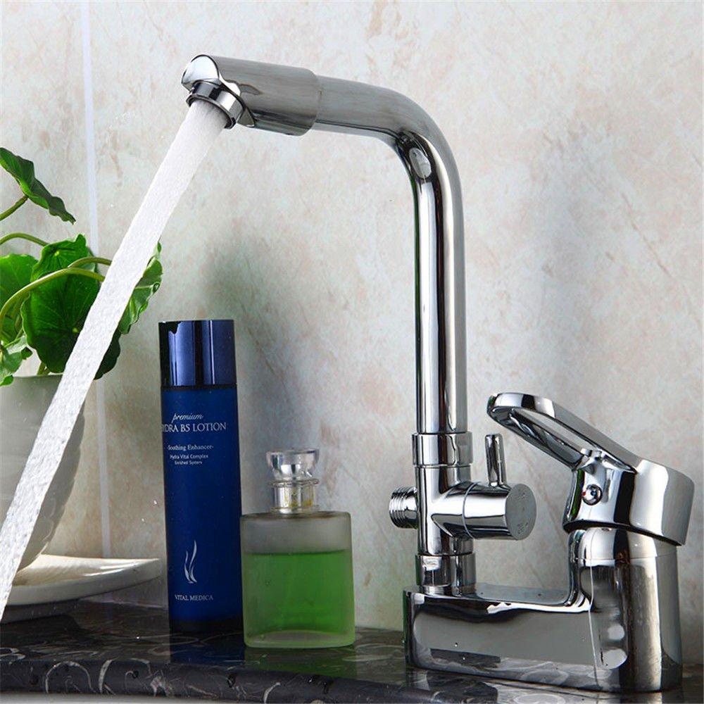 Hlluya Wasserhahn für Waschbecken Küche Die messinggehäuse Doppelloch kalt mit mit mit heißem Wasser für die Dusche Deluxe - Doppel- Waschbecken Wasserhahn bdcb0f