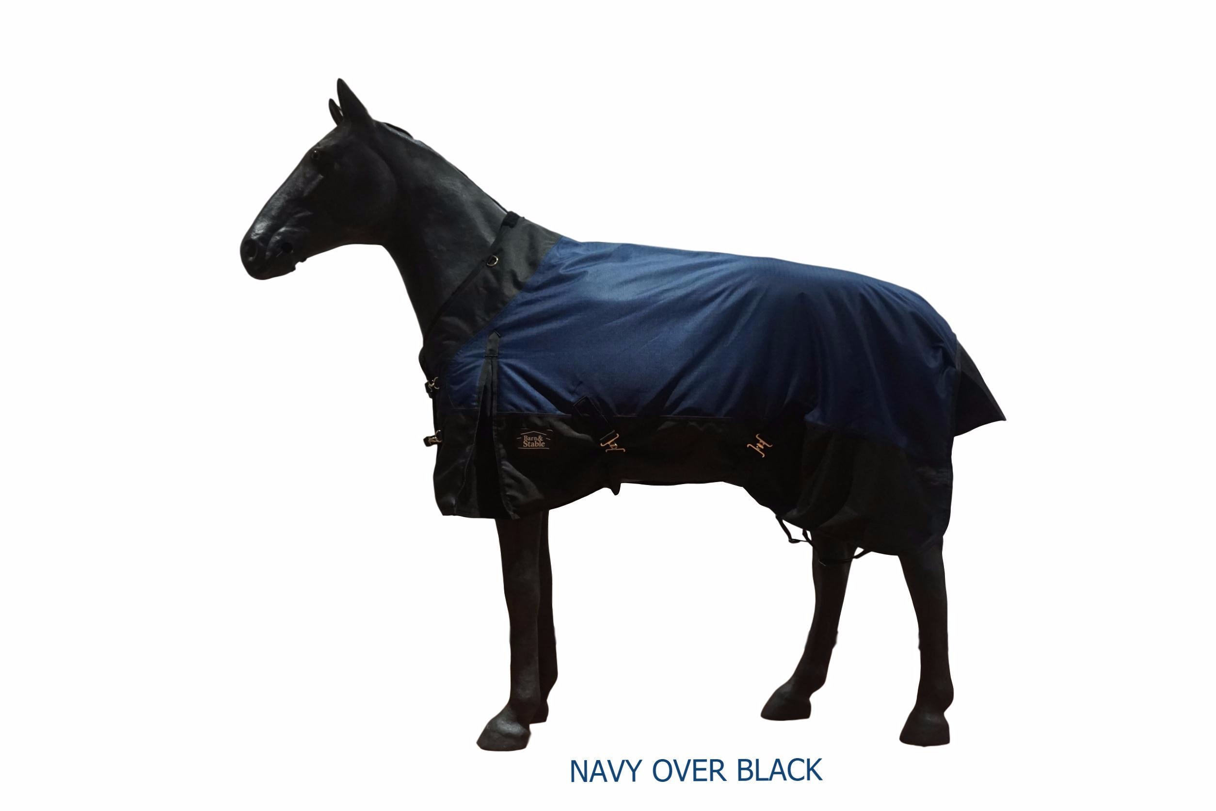 Barn&Stable Horse Blanket Turnout Blanket 1200D Ripstop, 210D Lining and 200grm Fill-Size 72