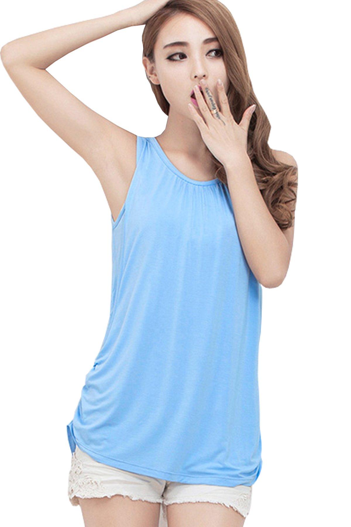 Smallshow Womens Sleeveless Maternity Nursing Tank Tops Breastfeeding Clothes