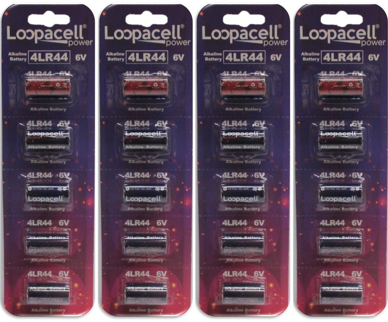 L1325 6V Battery Pack of 20 K28A Loopacell 8H-4T4X-D82A 4LR44 476A PX28A A544