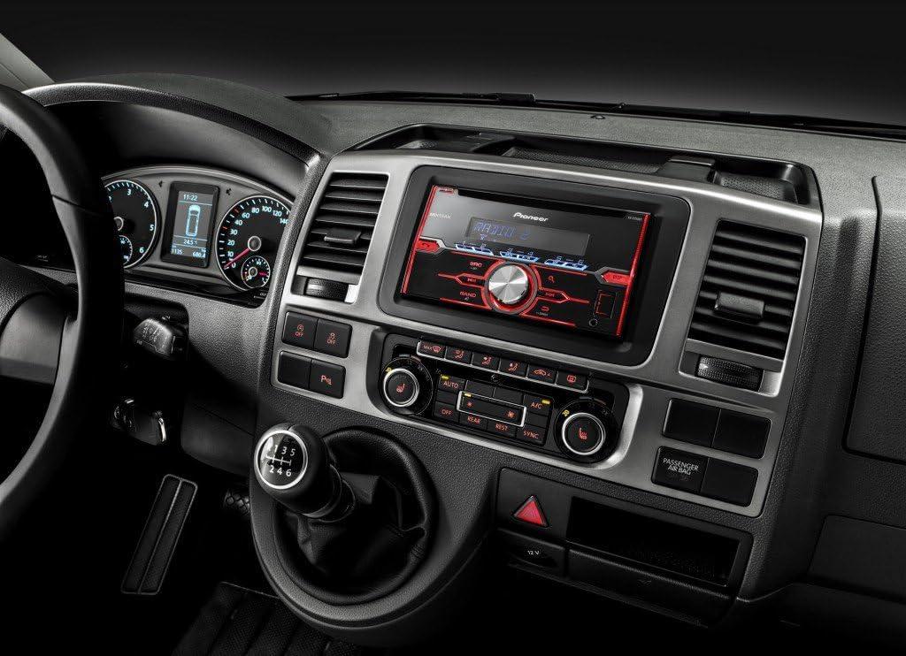 2DIN Bluetooth USB JUST SOUND best choice for caraudio Pioneer FH-X720BT Light Grey Autoradio Einbauset f/ür Seat Ibiza 6J