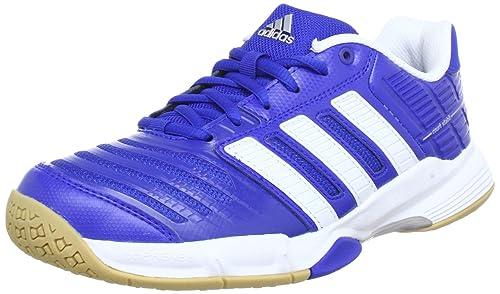 best service a5115 9d32a adidas Performance Men s Court Stabil 10 Handball Shoes Blue Size  UK 12.5