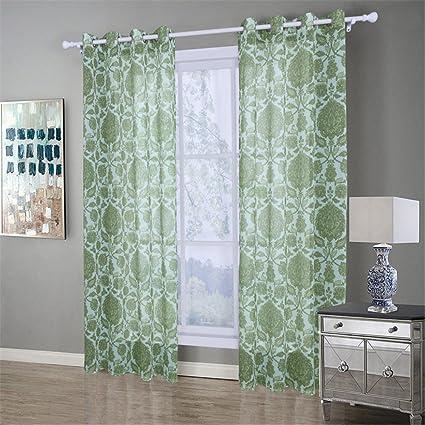 1 coppie di tende finestra schermo Doris tende di stoffa finestra a ...