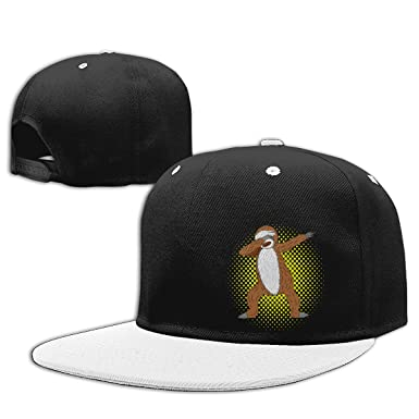 b6dfc6493d1 Image Unavailable. Image not available for. Color  Aiw Wfdnn Brown Sloth  Dabbing Hip Hop Baseball Cap Adjustable Snapback Hats Men s