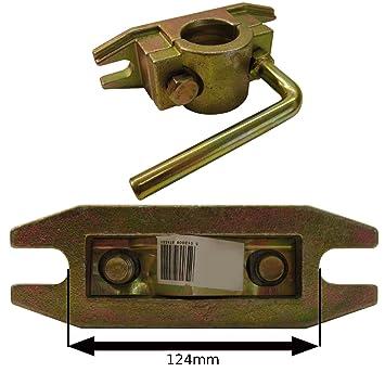 48mm abrazadera fundida Heavy Duty para Jockey Ruedas acanaladas y pedestales de prop.