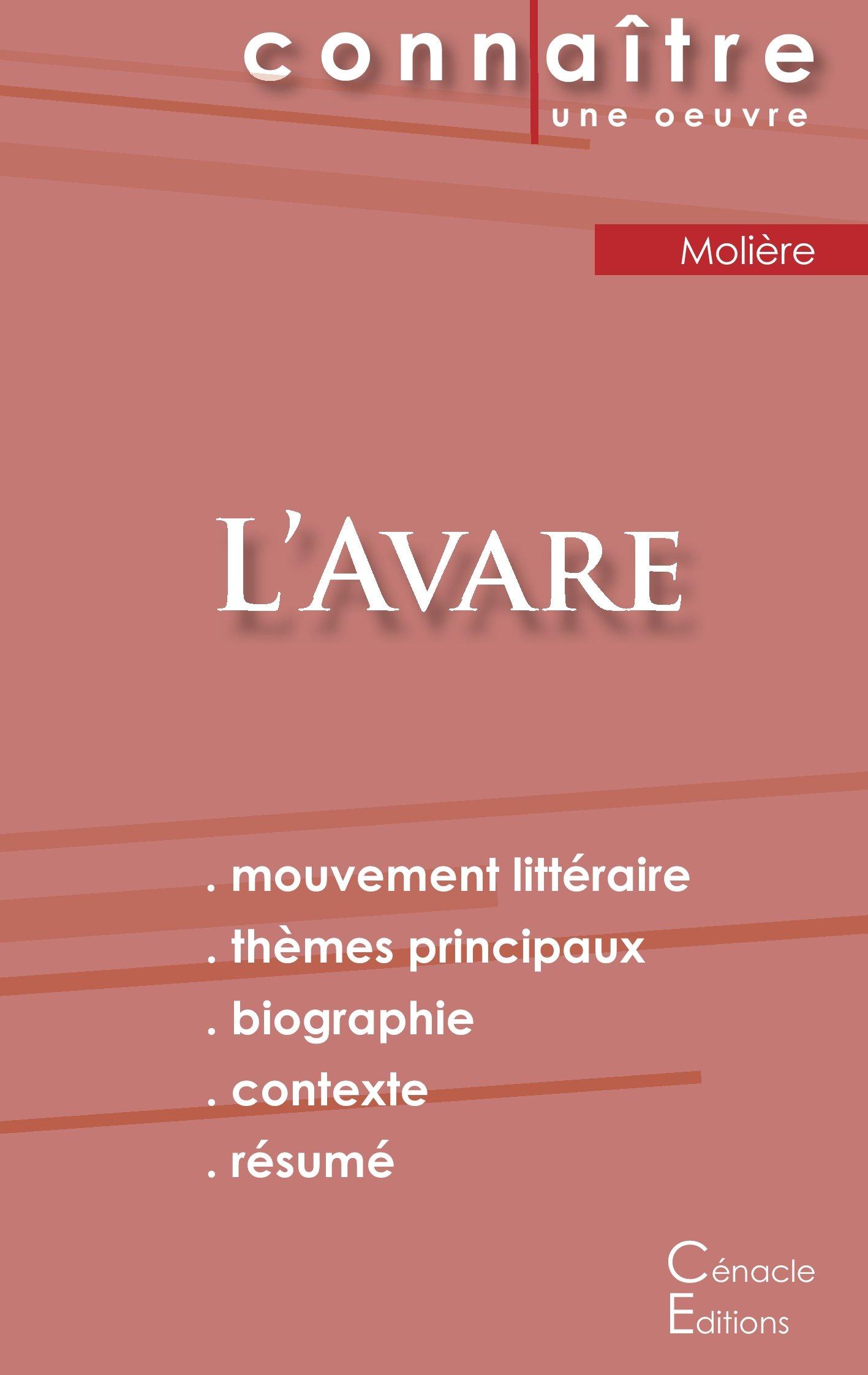 Amazon.in: Buy Fiche de lecture l\'avare de Molière (analyse ...