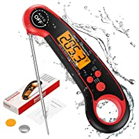 (2021 New) Brifit Instant Read Thermometer, Candy Thermometer, Digital Cooking Thermometer with High Accuracy and…