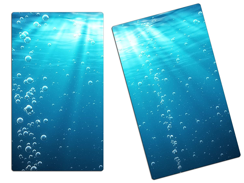 60x52 cm Set 1 Panel BaboQTools herdabdeckplatte Tagliere Paraspruzzi ha22727906/Bolle d Acqua Mare