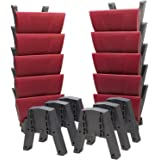SalatBuddy 10-Pack Contemporary Prayer and Posture Stool Set with 12 Multi-Risers and 2 Y-Cradles