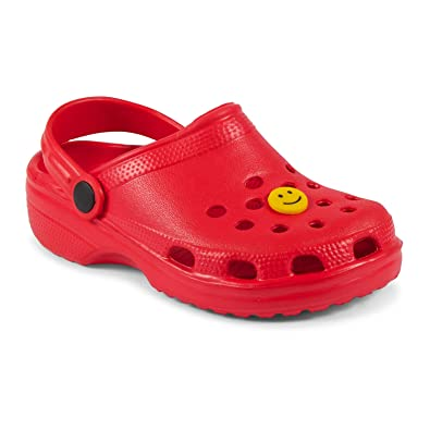 019f38bd6162 Childrens Kids Beach Clogs Flip Flops Jelly Sandals   Free Croc Shoes  Charm  Amazon.co.uk  Shoes   Bags