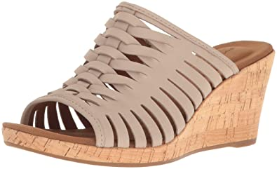 0b5feab557a Rockport Women s Briah Fisherman Wedge Sandal Simply Taupe 10.5 ...