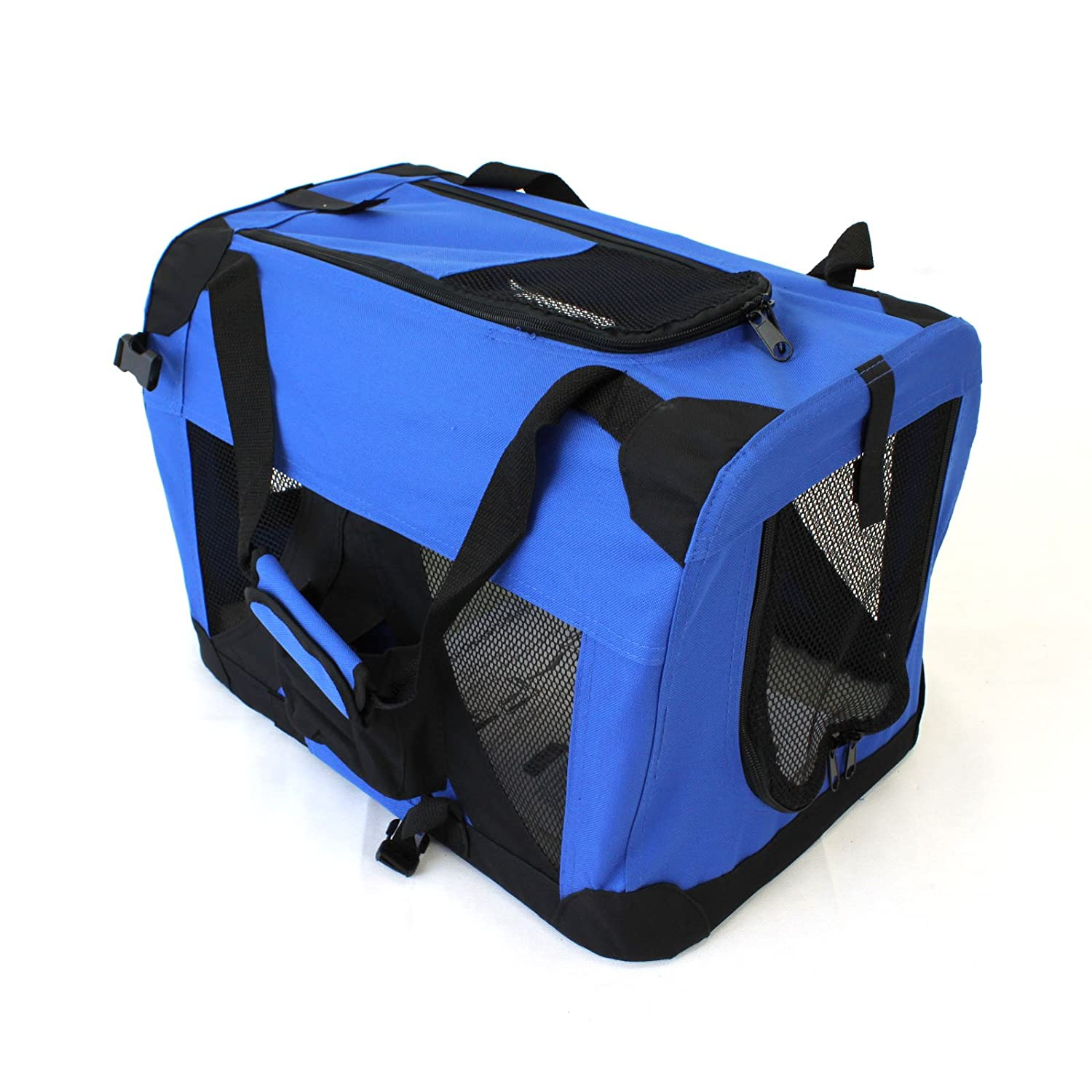 Medium 60x40cm Pet Travel Carrier Soft Crate Portable Puppy Dog Cat Kitten Cage Kennel Home House bluee (Medium 60x40cm)