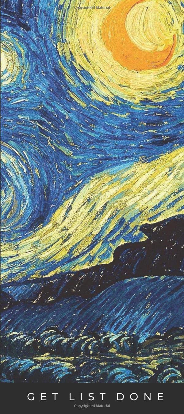Amazon Com To Do List Notepad Notepad For Planning Organizing Keeping Track Of Your Ideas Grocery And Shopping To Do List Starry Night Van Gogh Paintings 9781793250940 Get List Done Van Gogh