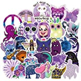71 Pack Purple Stickers for Water Bottle, Waterproof Vinyl Decals for Hydro Flasks Skateboard Laptop Luggage Guitar, for…
