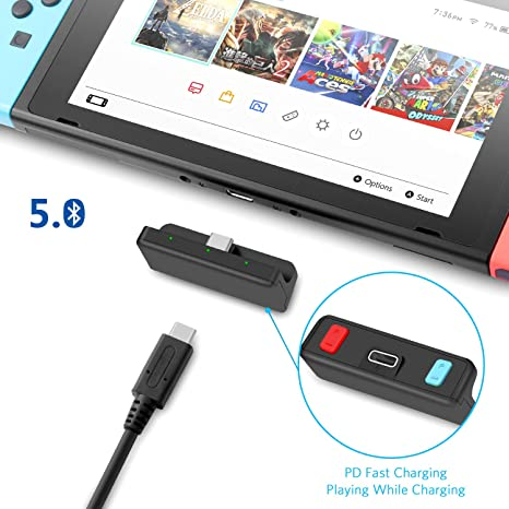 FREE Adaptador Bluetooth 5.0 Transmisor De Audio Con Conector USB C APTX De Baja Latencia Compatible Con Airpods PS4 Bose Sony Y Auriculares Bluetooth Para Nintendo Switch: Amazon.es: Videojuegos