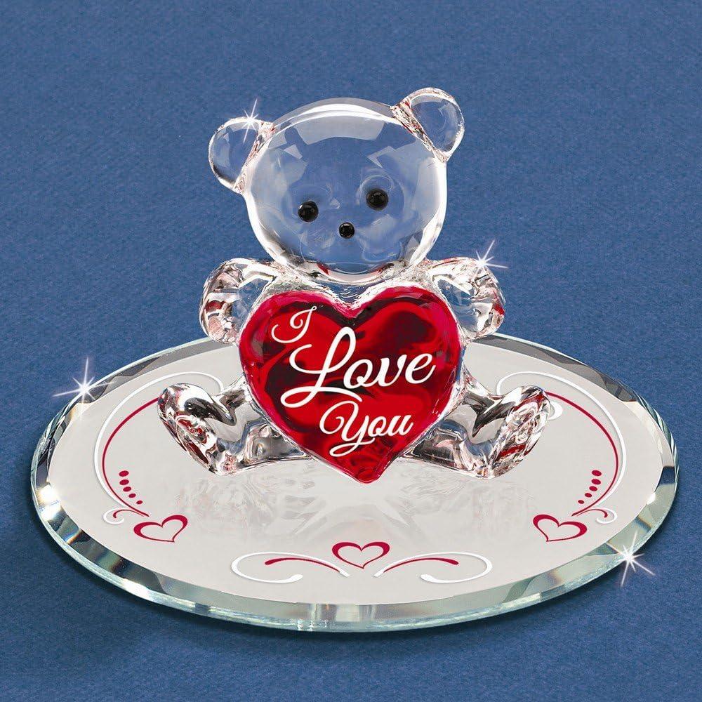 Goldia I Love You Bear Glass Figurine goldia-JGM6720