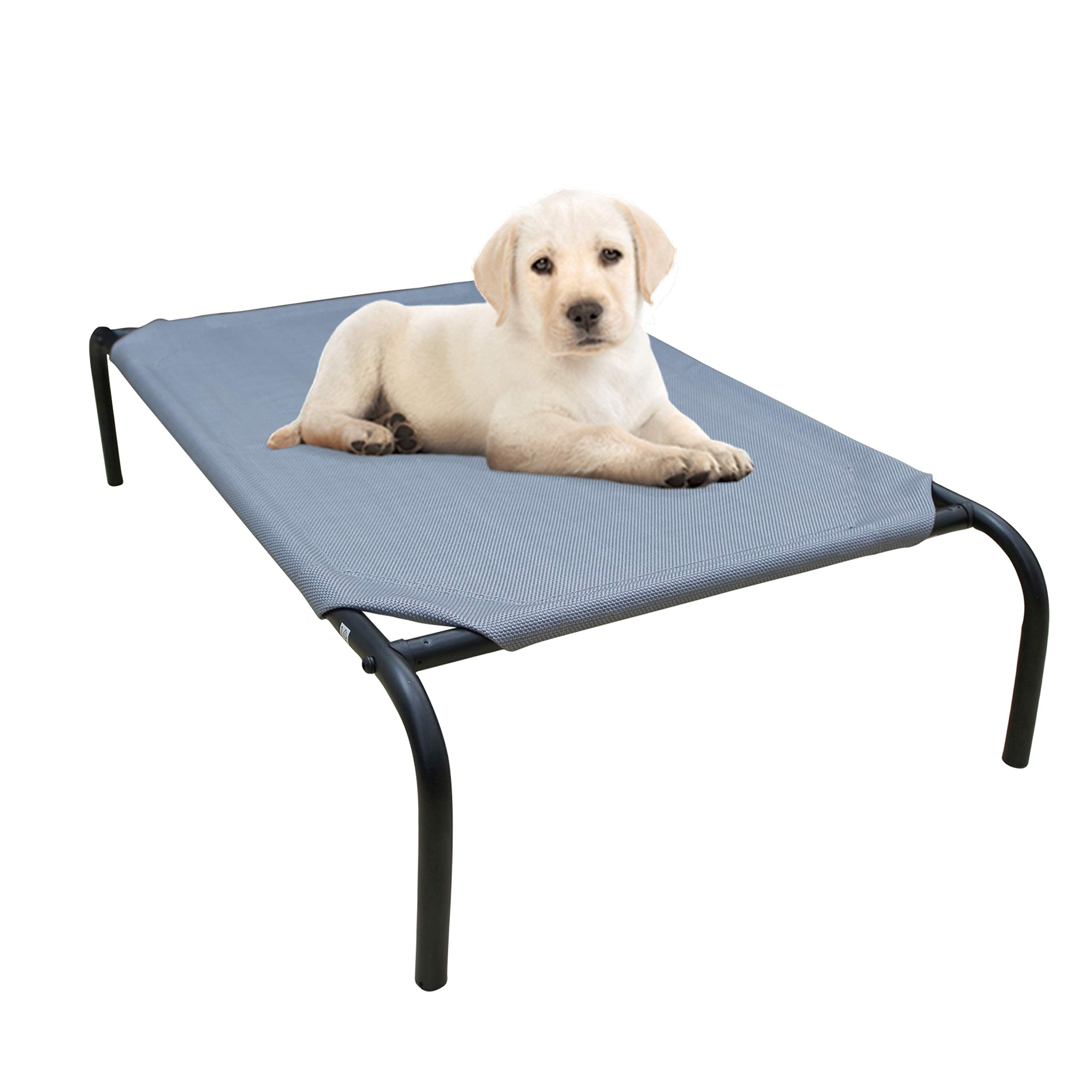 PHYEX Heavy Duty Steel-Framed Portable Elevated Pet Bed, Elevated Cooling Pet Cot