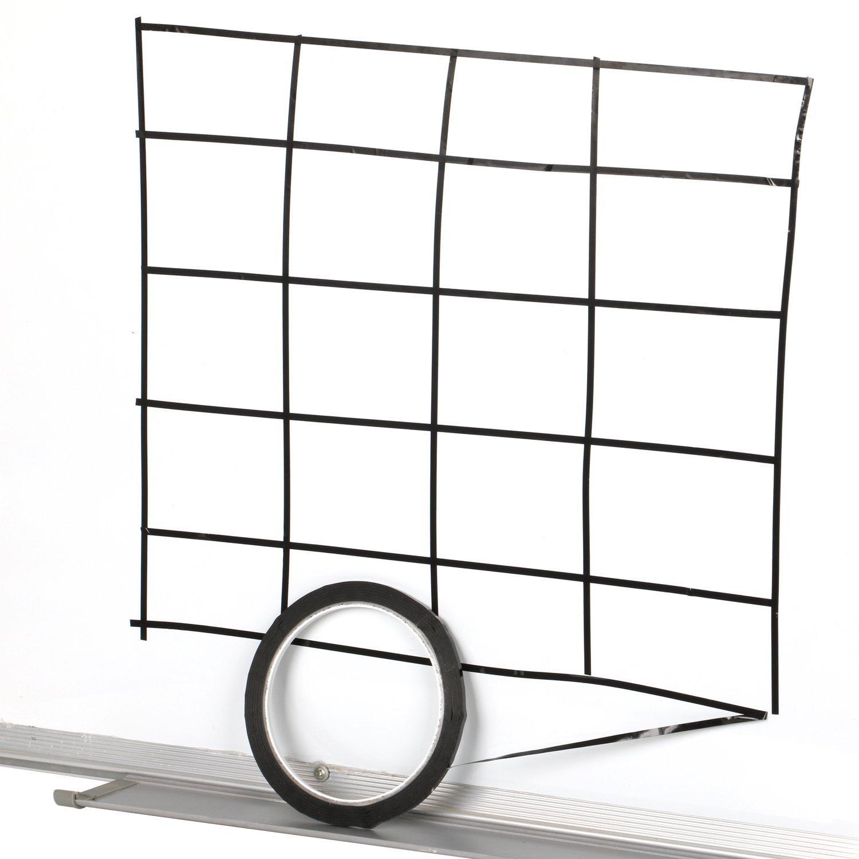MTSZZF Ruban adh?sif pour quadrillage de tableau blanc 330m grille quadrillage adh?sif pour marquer noir