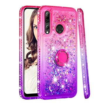 Miagon 2-1 Glitter Case for {Huawei P Smart 2019//Honor 10 Lite},Bling Sparkle Crystal Slim Soft TPU Detachable Electroplating Technology Phone Cover Bumper Case Cover