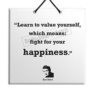 Amazon.com: Ayn Rand – Quote – cartel para colgar en la ...