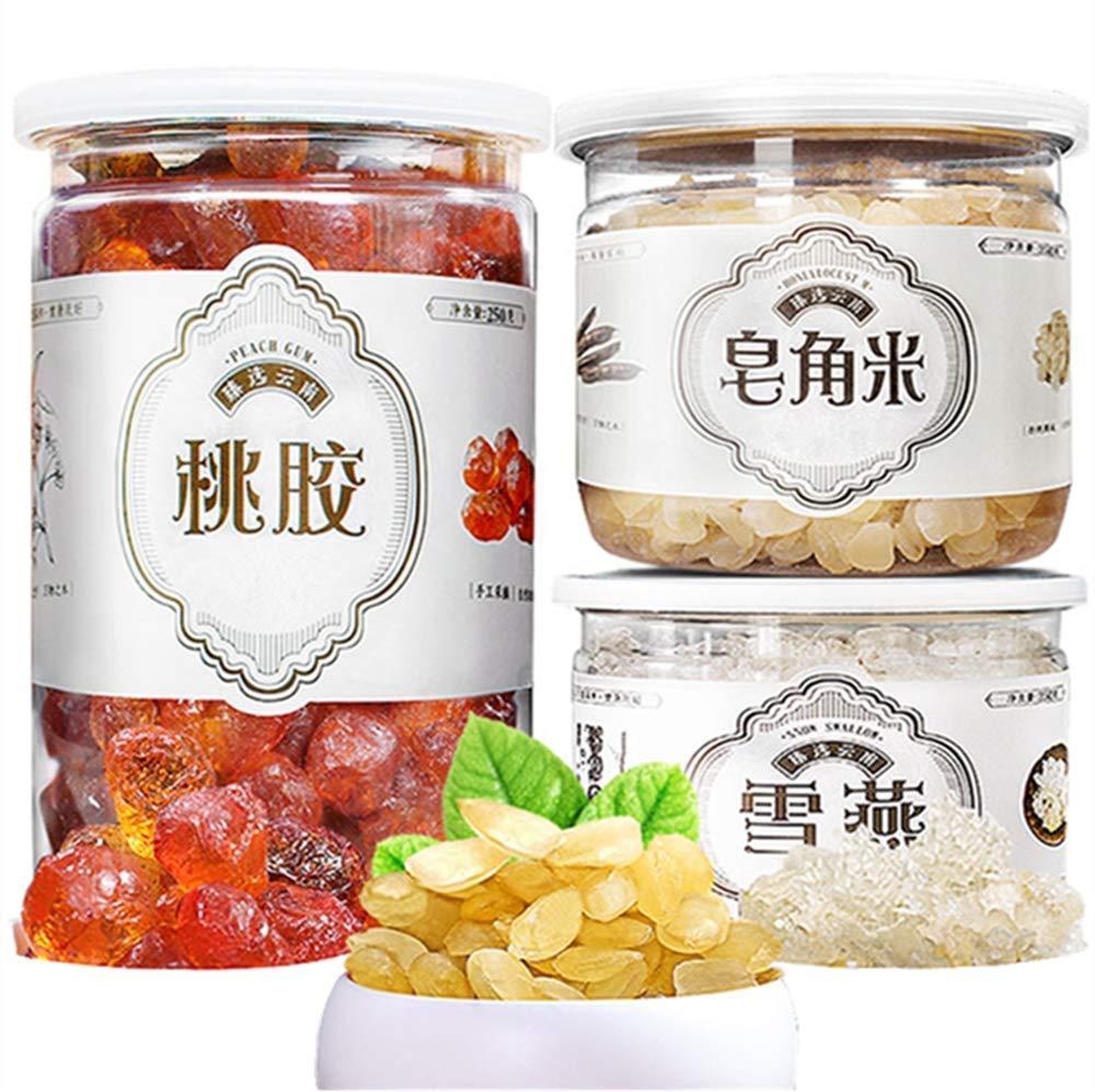 Yunnan Peach Gum(桃胶)250g/8.8oz Xueyan(雪燕)150g/5.3oz Gleditsia(皂角米)100g/3.5oz Independent Three Combination Set 【Total 500g/17.6oz】