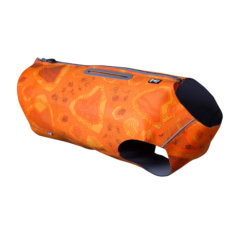 Hurtta Swimmer Vest (Bug Blocker), Hunting/Sportsman Dog Vest, Orange Camo, L