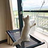 Cat Window Perch Bed - Blinbling Kitty Window Seat Suction Cups Space Saving, Providing all Around Sunbath and Natural Scenery for Cats Weighted up to 33lbs