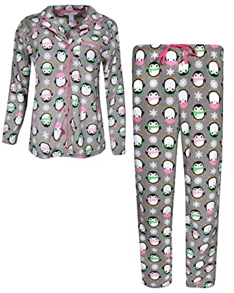 Pillow Talk Women s Sleepwear Microfleece Pajama Top and Pant 2-Piece Set 4744ecd76