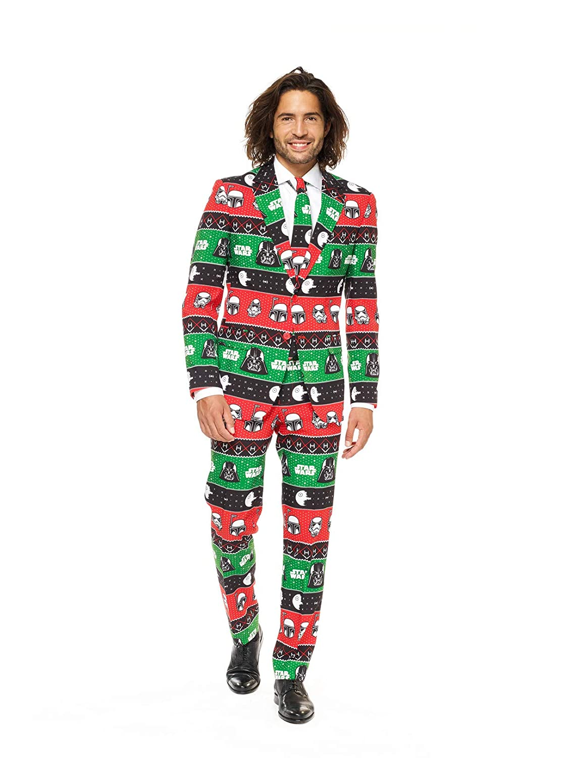 Opposuits Official STAR WARSTM Suit - Starry Side Costume Comes With Pants, Jacket and Tie, Starry SideTM, 58 Festive Forcetm